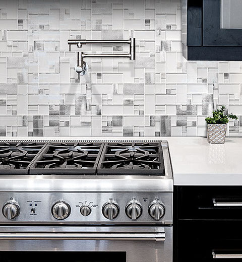 Pucci Tile & Marble - Kitchen Blacksplash - Glass Backsplash